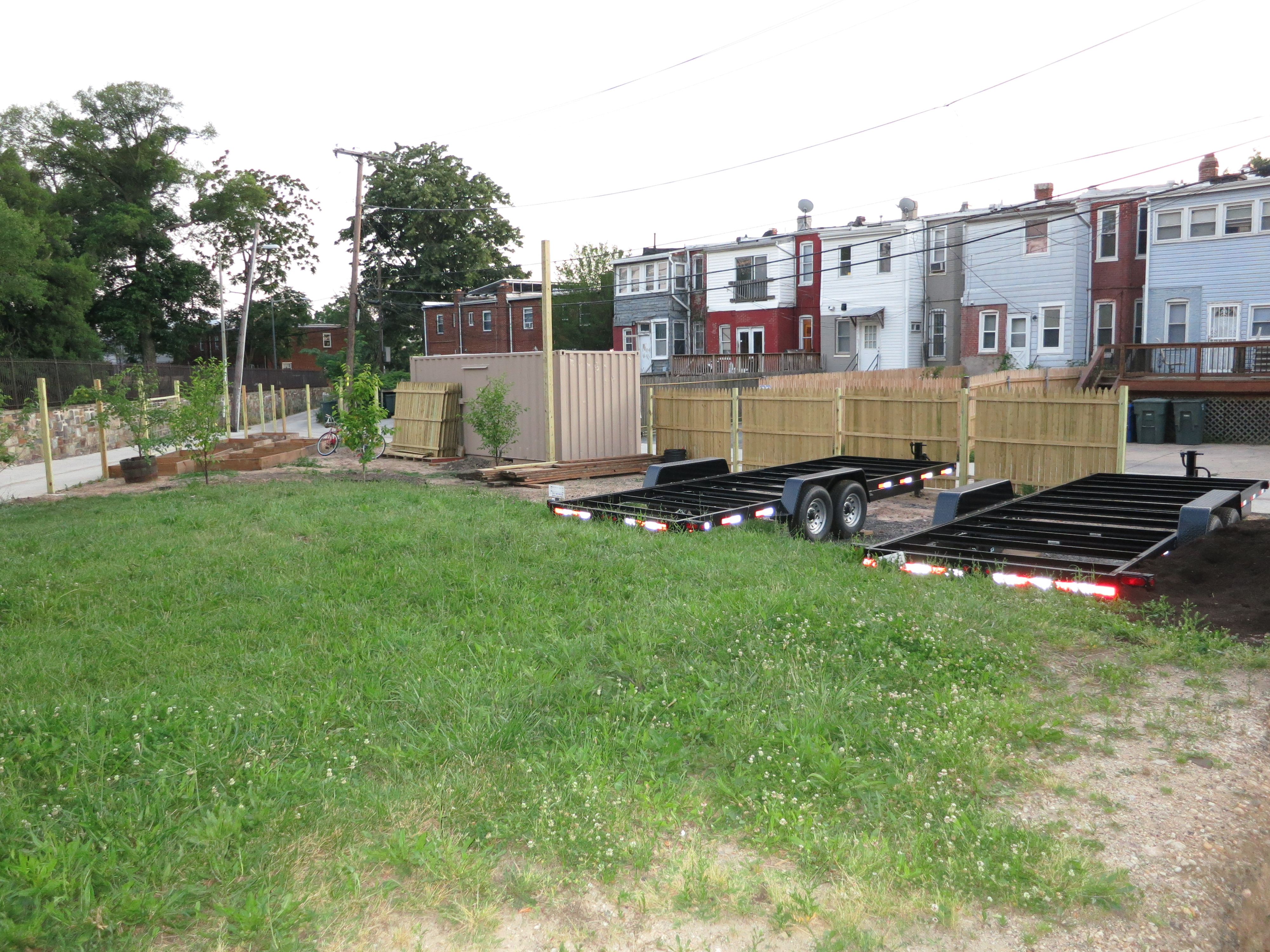 Shipping container and some trailer beds