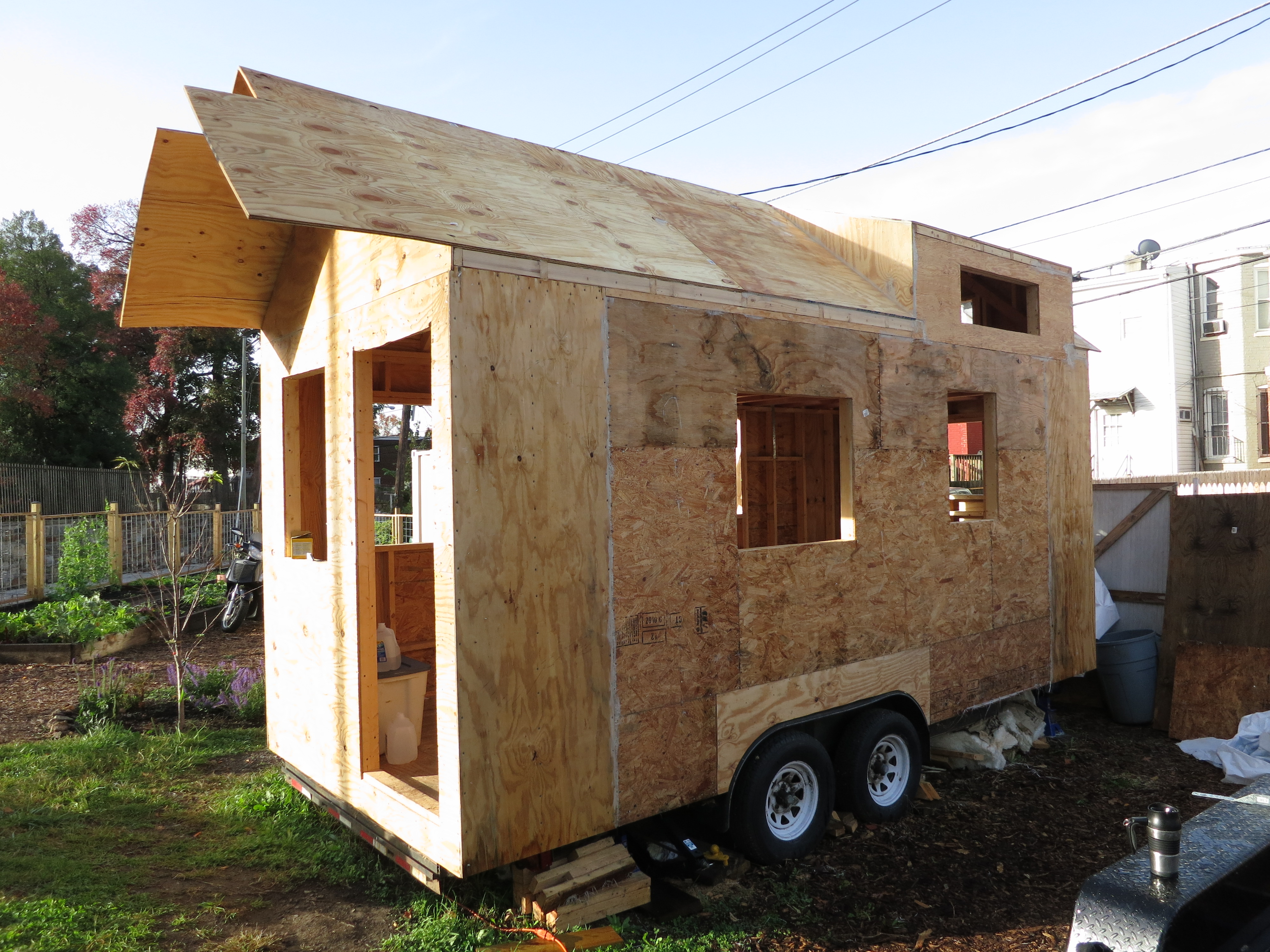 House with new, extended end walls and new roof