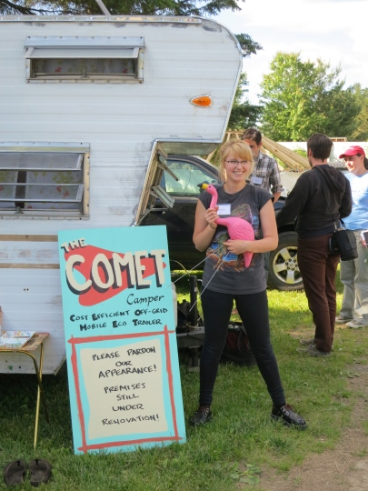Mariah Coz of the Comet Camper project