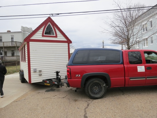 Moving a tiny house
