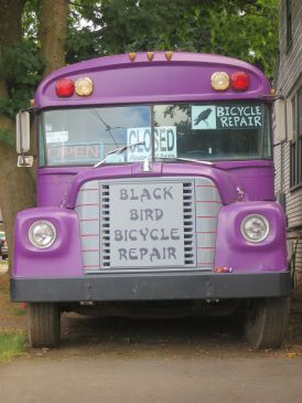 Another bus conversion - bicycle repair shop