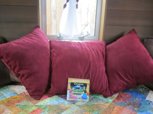 Each bed gets a book placed on it!