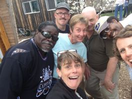 Dee Williams goofing around on her book tour. Also featured Robin Hayes of Build Tiny and Bill Malbon of the Tiny House Chapel