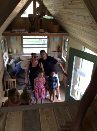 Love this little kid's face in the Simblissity tiny house tour